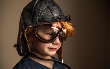 pilot, portrait, look, helmet, glasses, children, face, child, boy, adrian murray
