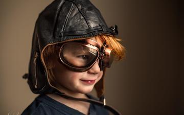 пилот, портрет, взгляд, лётчик, шлем, очки, дети, лицо, ребенок, мальчик, adrian murray