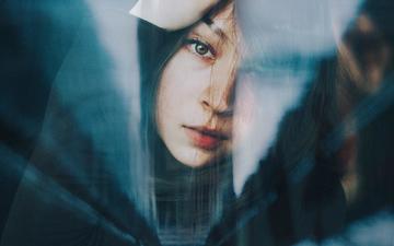 девушка, портрет, взгляд, волосы, лицо, taya iv