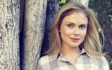 girl, blonde, portrait, trunks, look, hair, face, actress, rose mciver