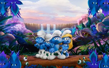 forest, cartoon, the smurfs, animation, smurfs-the lost village, smurfette, the smurfs:the lost village
