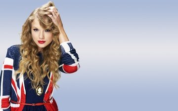 style, girl, blonde, curls, lips, singer, makeup, taylor swift
