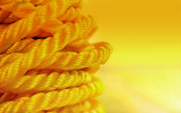 yellow, macro, background, color, rope, cord
