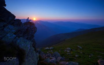 the sky, mountains, the sun, stones, people, tranquility, bosnia and herzegovina, adrian bubalow, vranica, fojnica