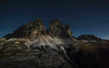 the sky, mountains, the dolomites, mountain range, maximus k., tre cime di lavaredo, italy