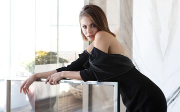 girl, look, hair, lips, face, actress, black dress, willa holland