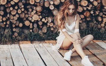 girl, mood, look, hair, face, logs, olga liferova