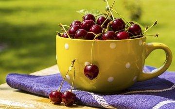 ягода, черешня, вишня, сочная, вкусная