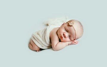 сон, дети, девочка, ангел, ребенок, младенец