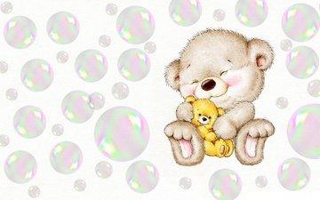 арт, улыбка, пузыри, игрушка, малыш, детская