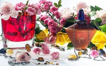 цветы, украшения, косметика, духи