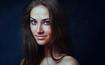 girl, smile, look, model, hair, face, dasha, zachar rise