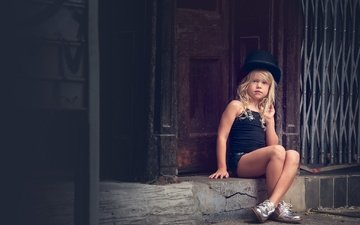 look, children, girl, hair, face, child, hat, meg bitton