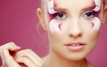 girl, portrait, look, model, lips, face, makeup