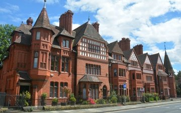 the city, england, architecture, the building, chester