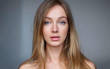 девушка, портрет, взгляд, модель, волосы, губы, лицо, ирина, голубоглазая, ivan warhammer