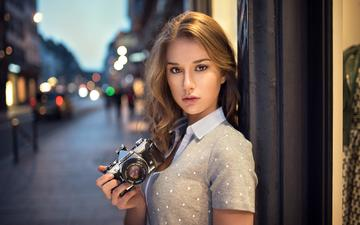 girl, look, model, the camera, hair, face, camera, claire, lods franck, the sapphire