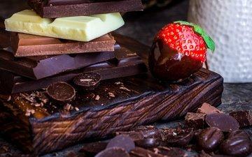клубника, шоколад, ассорти