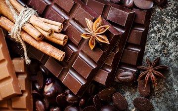 cinnamon, black, chocolate, sweet, milk, anis, star anise
