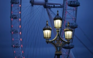 london, ferris wheel, england, lantern, the london eye