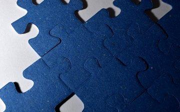 macro, background, puzzles, puzzle