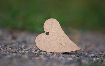 macro, background, heart, asphalt