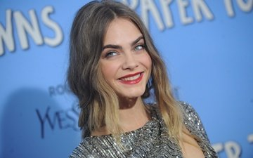 girl, smile, look, model, hair, face, actress, cara delevingne