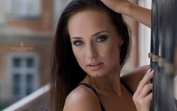 девушка, портрет, взгляд, модель, волосы, лицо, позирует, roman prosek