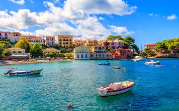 море, город, лодки