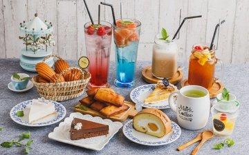 напиток, сладости, коктейль, печенье, выпечка, пирожное, кексы