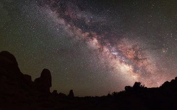 небо, ночь, звезды, млечный путь