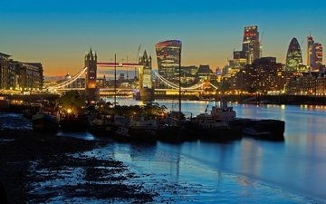 lights, river, london, thames, home, england, tower bridge