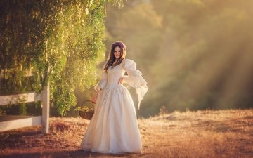 платье, корзина, венок, солнечно, edie layland, princess ella