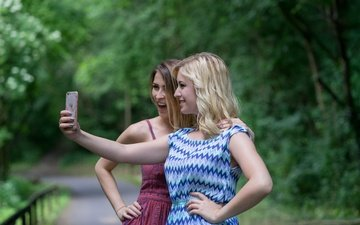 girl, look, joy, girls, hair, face, kristina, selfie, theresa