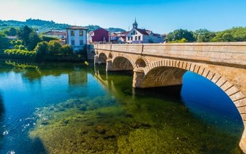 river, bridge, portugal, arcos de valdevez
