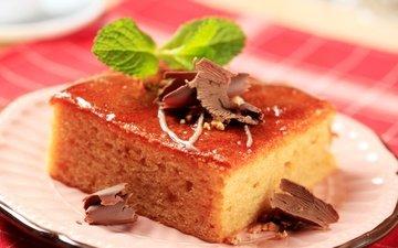 шоколад, десерт, бисквит, пирожное