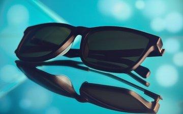 стиль, макро, отражение, очки, солнцезащитные очки