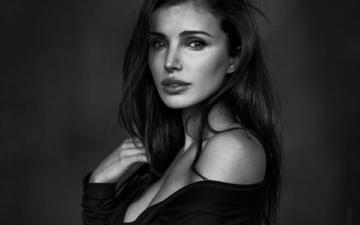girl, look, model, hair, face, neckline, tanya, bare shoulder, peter coulson
