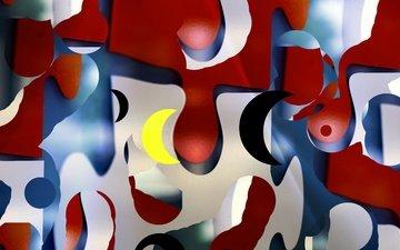 абстракция, узор, краски, цвет, форма, пятна