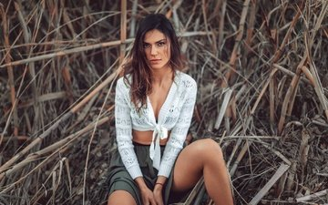 девушка, взгляд, модель, волосы, лицо, тростник, stephanos georgiou, katerina bobrovnik