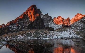 озеро, горы, природа, отражение, пейзаж, vladimir sifra