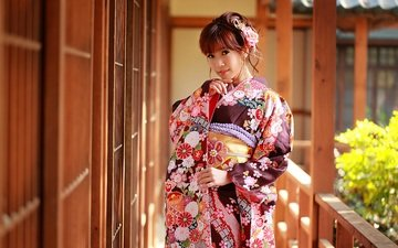 girl, mood, kimono, japanese, asian, geisha