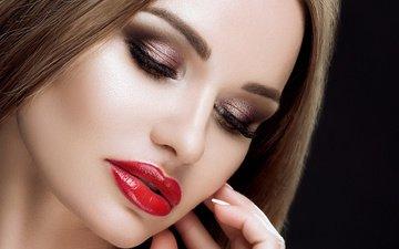 look, model, face, makeup