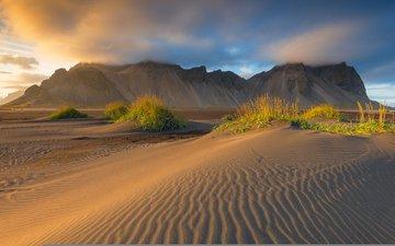 природа, пейзаж, песок, пустыня, дюны