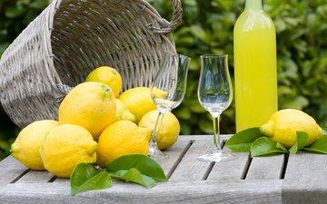 напиток, лимоны, цитрусы, лимонад
