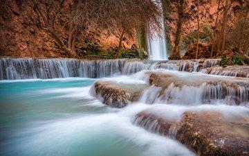 река, скалы, природа, водопад, каньон, michael wilson