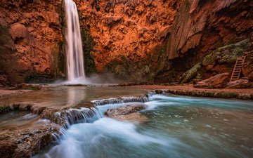 река, природа, пейзаж, водопад, каньон, michael wilson