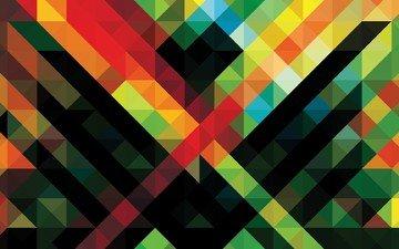 полосы, абстракция, квадраты, окрас