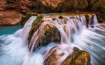 вода, река, скалы, природа, камни, водопад, поток, michael wilson