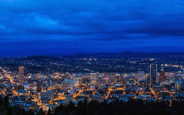 panorama, the city, usa, portland, jarred decker